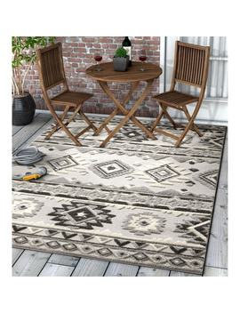 Well Woven Modern Geometric Southwestern Indoor Outdoor Area Rug High by Well Woven