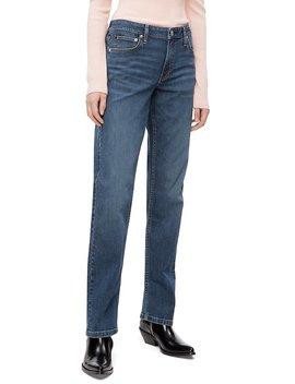 Ckj 031 Straight Leg Mid Rise Hamptons Blue Jeans by Calvin Klein