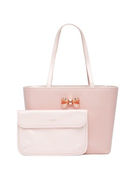 Lamica Patent Leather Bow Small Shopper Tote by Ted Baker London