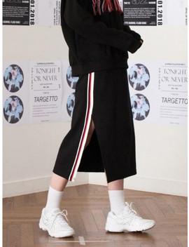 Tape Slit Training Skirt Black by Targetto