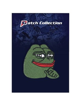Smug Pepe Frog Motif Iron On Applique Embroidered Patch by Patch Collection