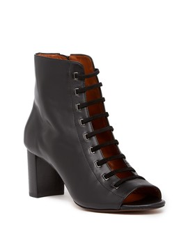 Stefania Leather Open Toe Bootie by Aquatalia