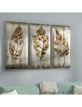 Darby Home Co Leaves Modern 3 Piece Framed Painting Set & Reviews by Darby Home Co