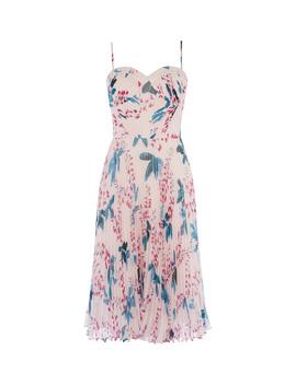 Floral Pleated Dress by Dc276 Dc183 Dc182 Td143 Dc158 Dd223