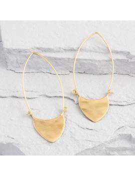 Gold Rounded Triangle Oval Hoop Earrings by World Market