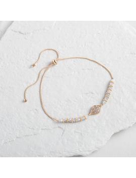 Gold And Gray Evil Eye Beaded Bracelet by World Market