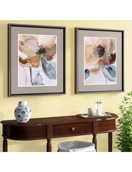 Darby Home Co Poppy2 Piece Framed Painting Print Set & Reviews by Darby Home Co