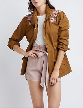 Floral Anorak Jacket by Charlotte Russe
