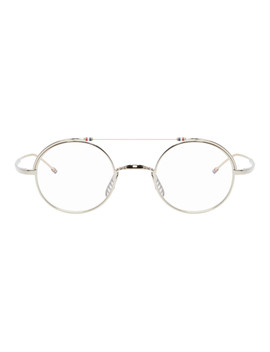 Silver & Gold Tb 910 Glasses by Thom Browne