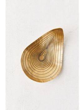 Stone Harvest Brass Teardrop Bowl by Stone Harvest