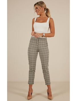 Call It Off Pants In Grey Check by Showpo Fashion