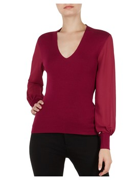 Bryanna Bishop Sleeve Sweater by Ted Baker