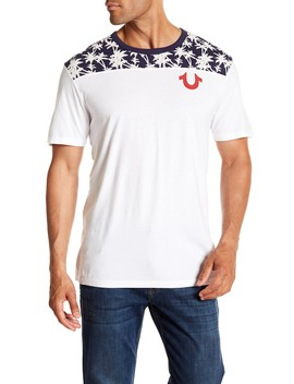 Palm Tree Print Football Tee by True Religion