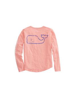 Girls Long Sleeve Slub Whale Tee by Vineyard Vines