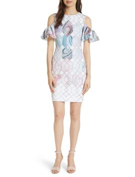 Krimba Sea Of Clouds Sheath Dress by Ted Baker London