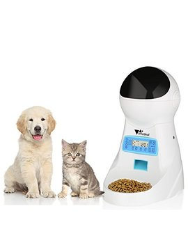 Amzdeal Automatic Cat Feeder Pet Dog Feeder Food Dispenser With Timer Programmable, Lcd Display And Sound Recording Up To 4 Meals A Day by Amzdeal