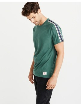 Varsity Tape Short Sleeve Tee by Abercrombie & Fitch