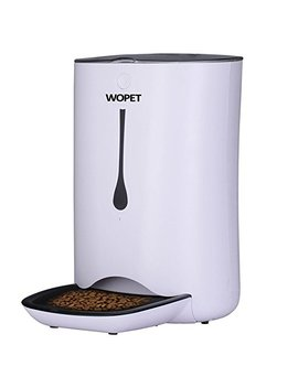 W Opet 7 L Pet Feeder, Automatic Pet Feeder For Cats And Dogs,Auto Pet Feeder Food Dispenser–Features Distribution Alarms, Portion Control & Voice Recorder And Timer Programmable by W Opet