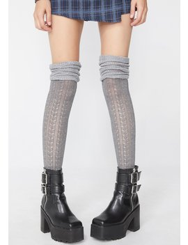 Stoned Bb Doll Thigh High Socks by Leg Avenue
