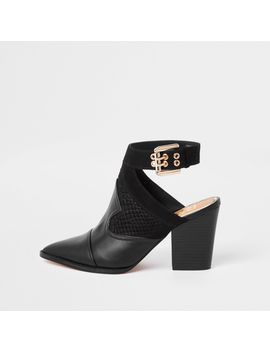 Black Western Pointed Shoe Boots by River Island
