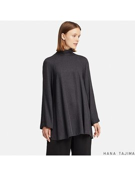 Women Hpj Rayon Drape Long Sleeve Tunic by Uniqlo