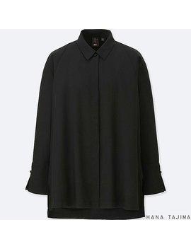 Women Hpj Tencel Flyfront Long Sleeve Tunic by Uniqlo