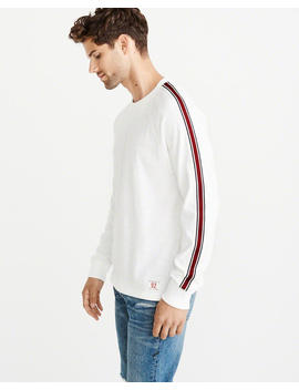 Varsity Tape Long Sleeve Tee by Abercrombie & Fitch