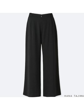 Women Hpj Satin Wide Ankle Length Pants by Uniqlo