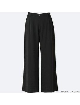 Women Hpj Satin Wide Ankle Length Pants by Uniqlo