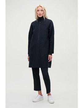 Boiled Wool Cocoon Coat by Cos