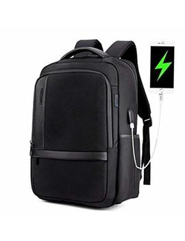 Artic Hunter Laptop Backpack Lightweight Computer Backpack,Water Resistant Laptop Backpack With Usb Charging Port School Bookbag For 15.6 Inchand Notebook,Black by Artic Hunter