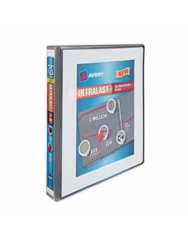 Avery Ultralast Binder With 1 Inch One Touch Slant Rings, White (79744) by Avery