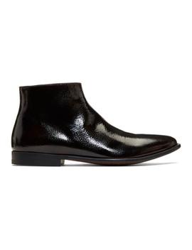 Brown Zermatt Zip Boots by Alexander Mcqueen
