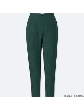 Women Hpj Crepe Tapered Ankle Length Pants by Uniqlo