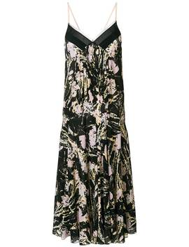 Floral Print Pleated Midi Dress by Nº21