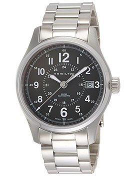 Hamilton Men's 'khaki Field' Swiss Automatic Stainless Steel Dress Watch, Color:Silver Toned (Model: H70595163) by Hamilton