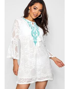 Embroidered Lace Beach Cover Up by Boohoo