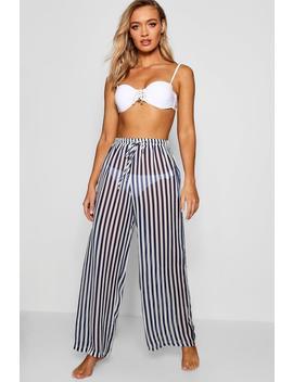 Stripe Beach Trouser by Boohoo
