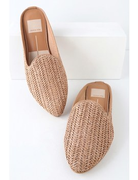 Grant Natural Raffia Woven Loafer Slides by Lulu's