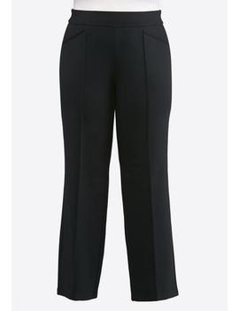 Plus Size Pintuck Ponte Pants by Cato