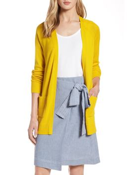 Mix Stitch Open Front Cardigan by Halogen®