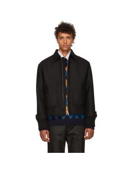 Black Zip Up Jacket by Prada