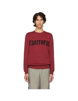 Red 'f Faithful' Sweater by Fendi