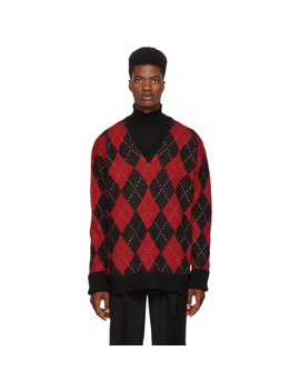 Multicolor Oversized Argyle Sweater by Alexander Mcqueen