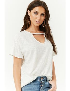 Raw Cut Burnout Top by Forever 21