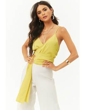 Self Tie Sash Cropped Cami by Forever 21
