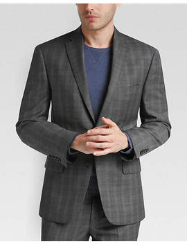 Dkny Gray Plaid Extreme Slim Fit by Mens Wearhouse