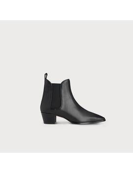 Becky Black Leather Ankle Boots by L.K.Bennett