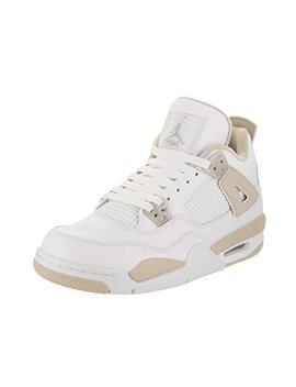 Jordan Air Big Kid's Shoes 4 Retro Gg Flight White With Blue Basketball Sneakers by Jordan
