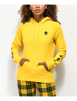 A Lab Brealynna Alien Sleeve Yellow Hoodie by A Lab